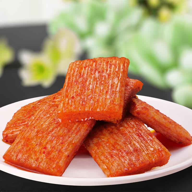 佳龙亲亲嘴辣条麻辣混搭660g克麻辣小零食大刀肉小零食60大包 - 图1