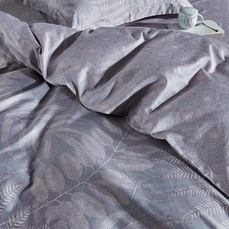 支长绒棉四件套全棉纯棉简约床单被套北欧风床上用品 60 梦洁家纺