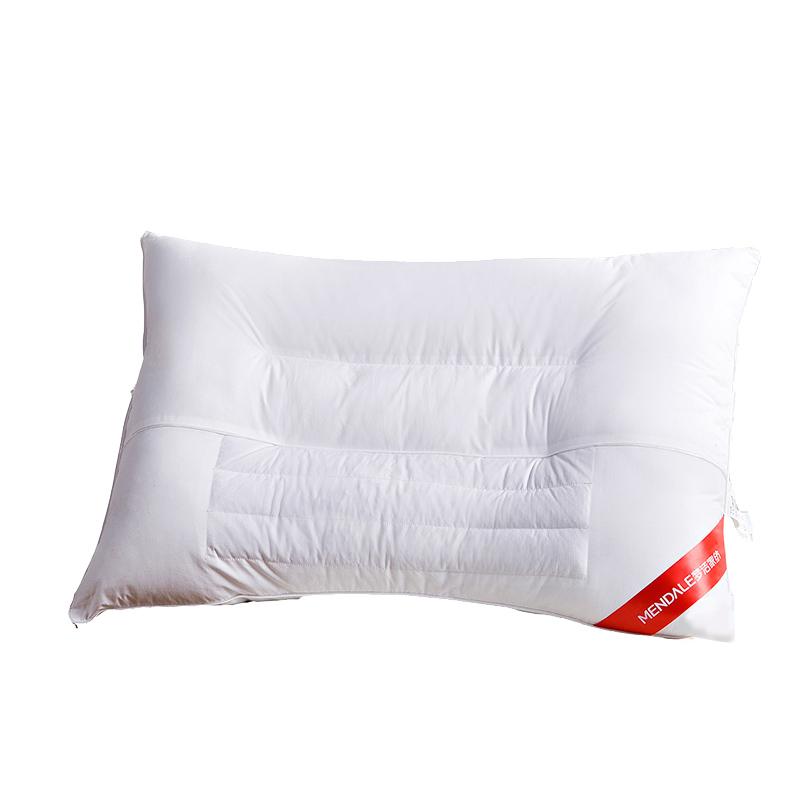 梦洁家纺荞麦低枕头一个单人家用双人决明子颈椎枕学生枕芯
