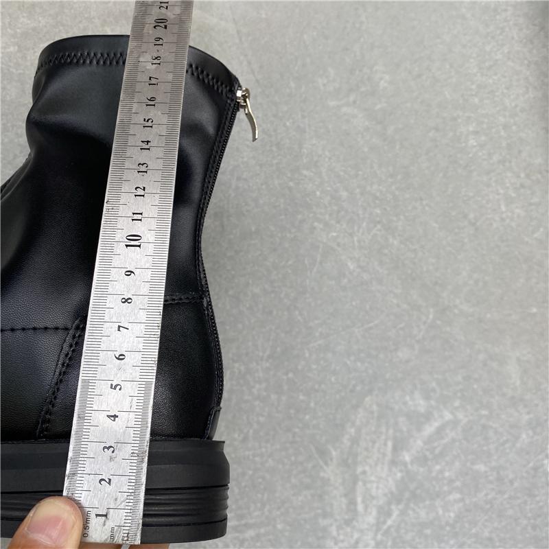 撤柜断码女靴清仓特价真皮软牛皮拉链黑色英伦马丁靴短靴单靴透气