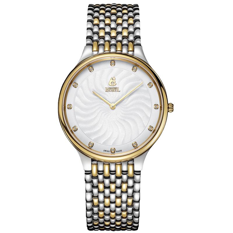 新品瑞士依波路2019新款男士手表女士皮带情侣手表石英钢带腕表