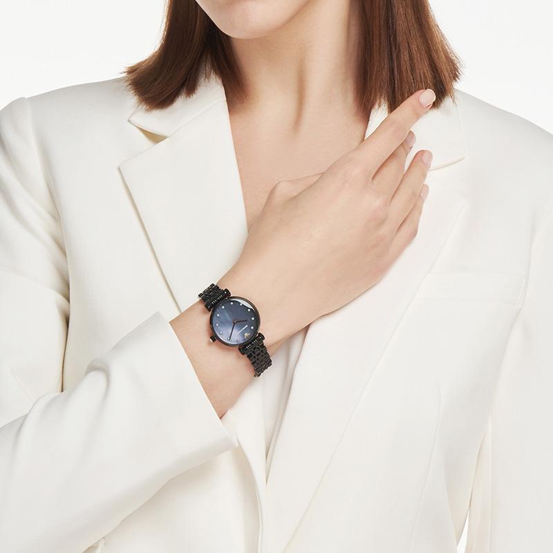 【正品】Armani阿玛尼黑色表盘手表女潮流女士石英腕表AR11268