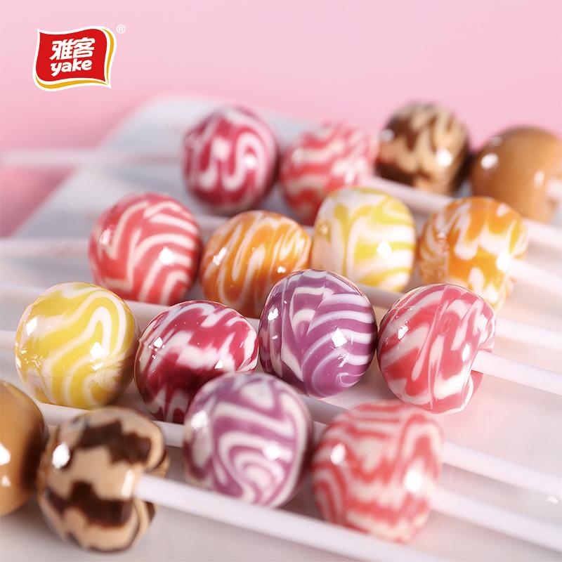 雅客天天棒棒糖210g*4约80支水果味儿童礼物婚庆零食休闲糖果