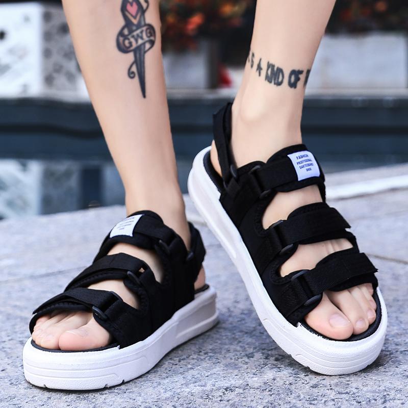情侣凉鞋夏季大码沙滩鞋个性男鞋时尚潮流青少年运动休闲流行透气