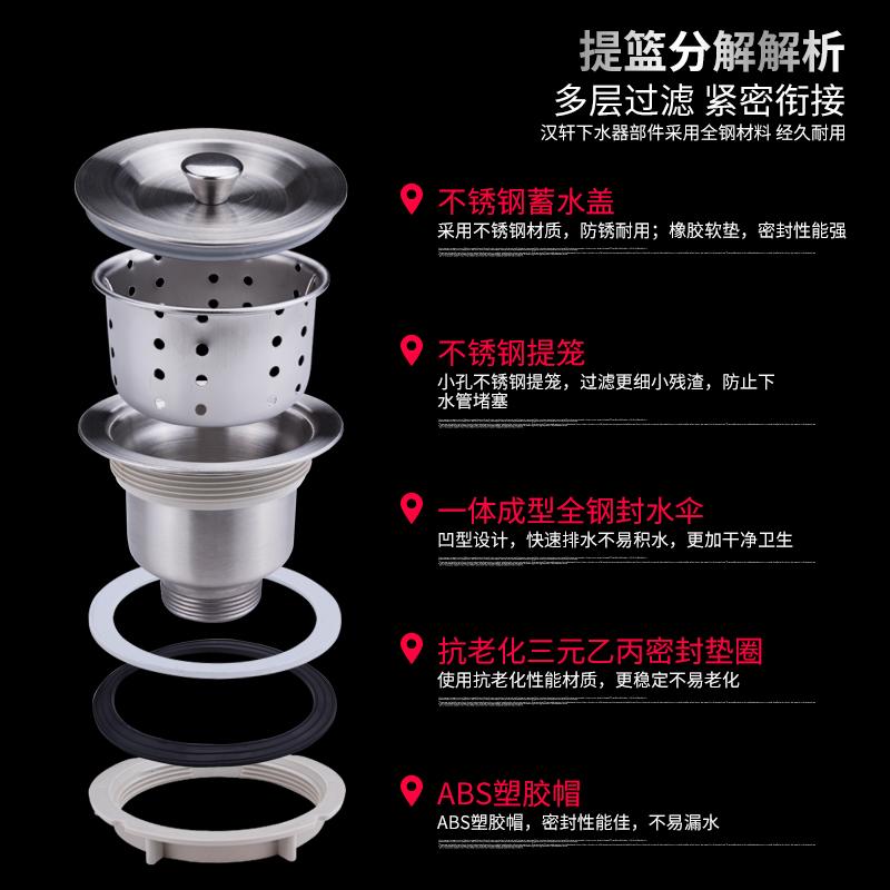 厨房洗菜盆下水管配件水槽下水器排水管洗碗池水池塞子堵水盖子