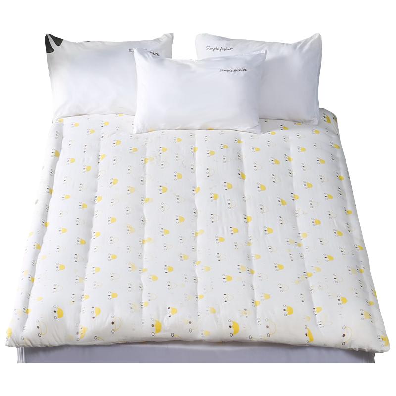 双人床褥垫被加厚全棉被褥学生单人床垫 1.8m 米 1.5 纯棉花褥子定做