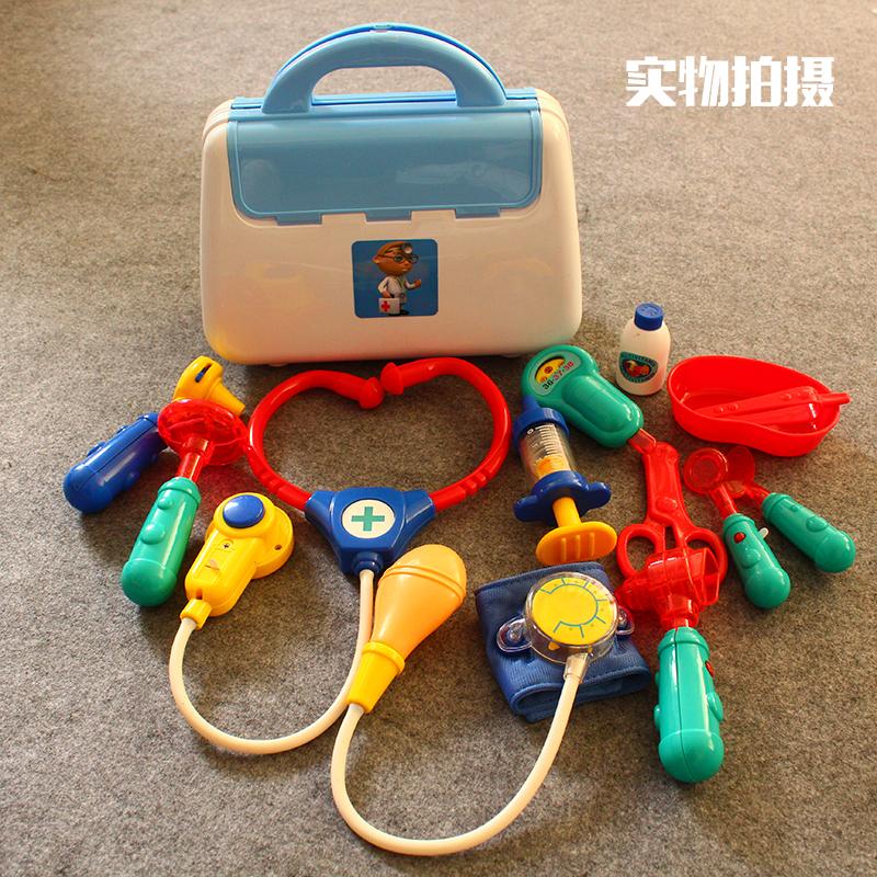 儿童仿真医生儿童玩具女孩医药箱 听诊器打针医生玩具套装过家家