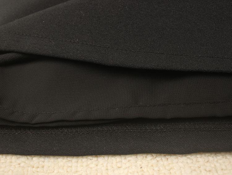 秋冬季修身显瘦包臀裙OL职业中裙半身裙加厚款一步裙女纯色黑色裙