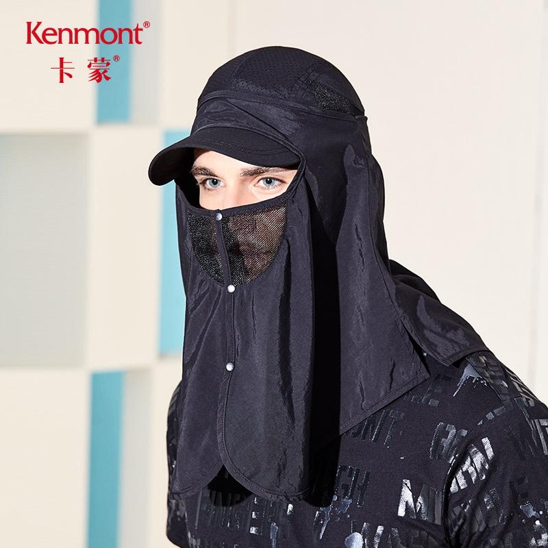 卡蒙夏季摩托车口罩大号男骑车面罩护颈防晒黑色口罩薄款防紫外线