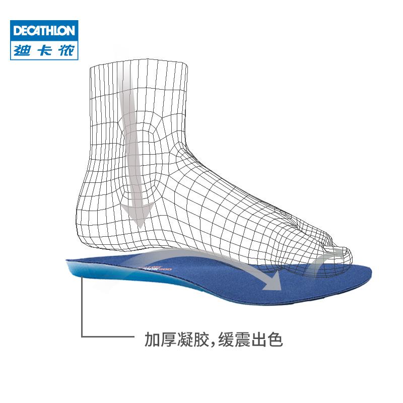 迪卡侬舒适硅胶鞋垫男运动防臭加厚吸汗鞋全掌减震篮球跑步女QUS