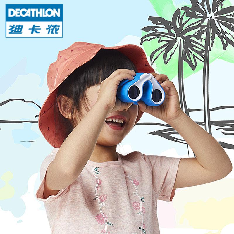 迪卡儂望遠鏡兒童玩具高清高倍8倍鏡戶外小型便攜雙筒望遠鏡 QUOP