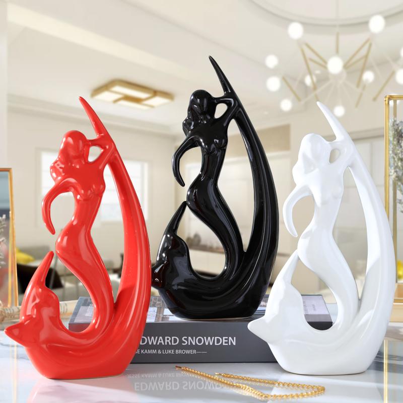 軟裝飾品天使家居創意小擺件簡約現代客廳電視櫃現代工藝品小美人