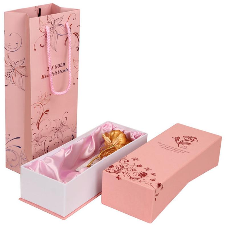 送礼物礼品 99 金箔玫瑰花礼盒纯手工大师匠人打造金层含金量 工美
