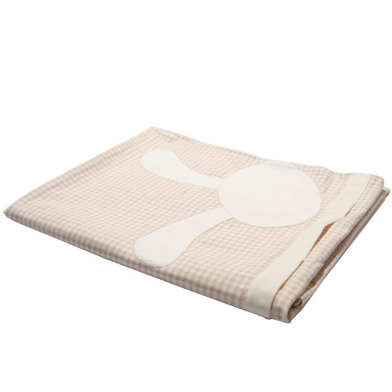 乐桃有机棉宝宝全棉被罩新生儿床品婴幼儿全棉床上用品100*120