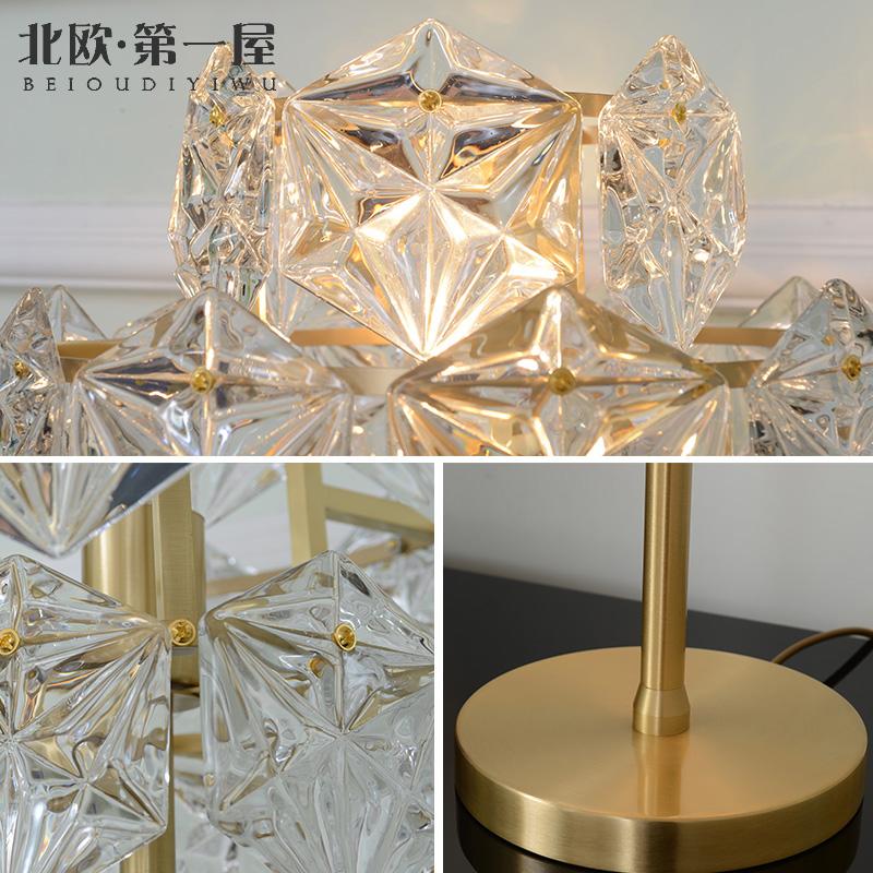 轻奢后现代全铜客厅落地灯水晶玻璃艺术创意个姓书房卧室落地灯