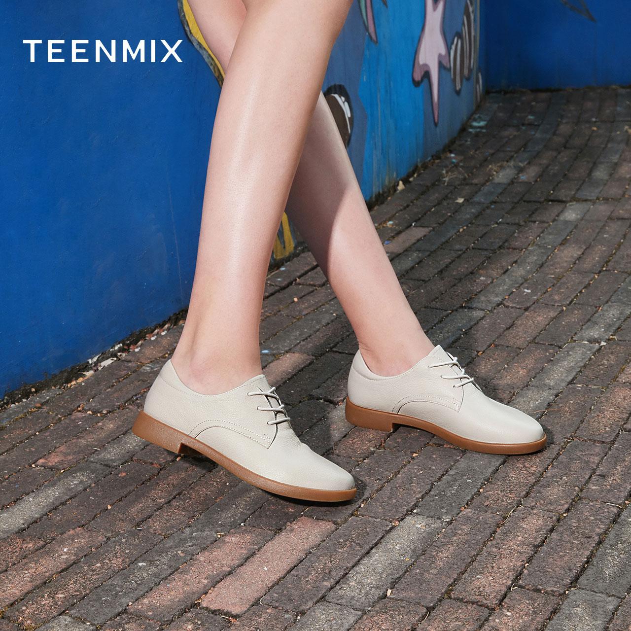 CCJ29AM0 春季新款 2020 天美意英伦单鞋女休闲鞋子 商场同款