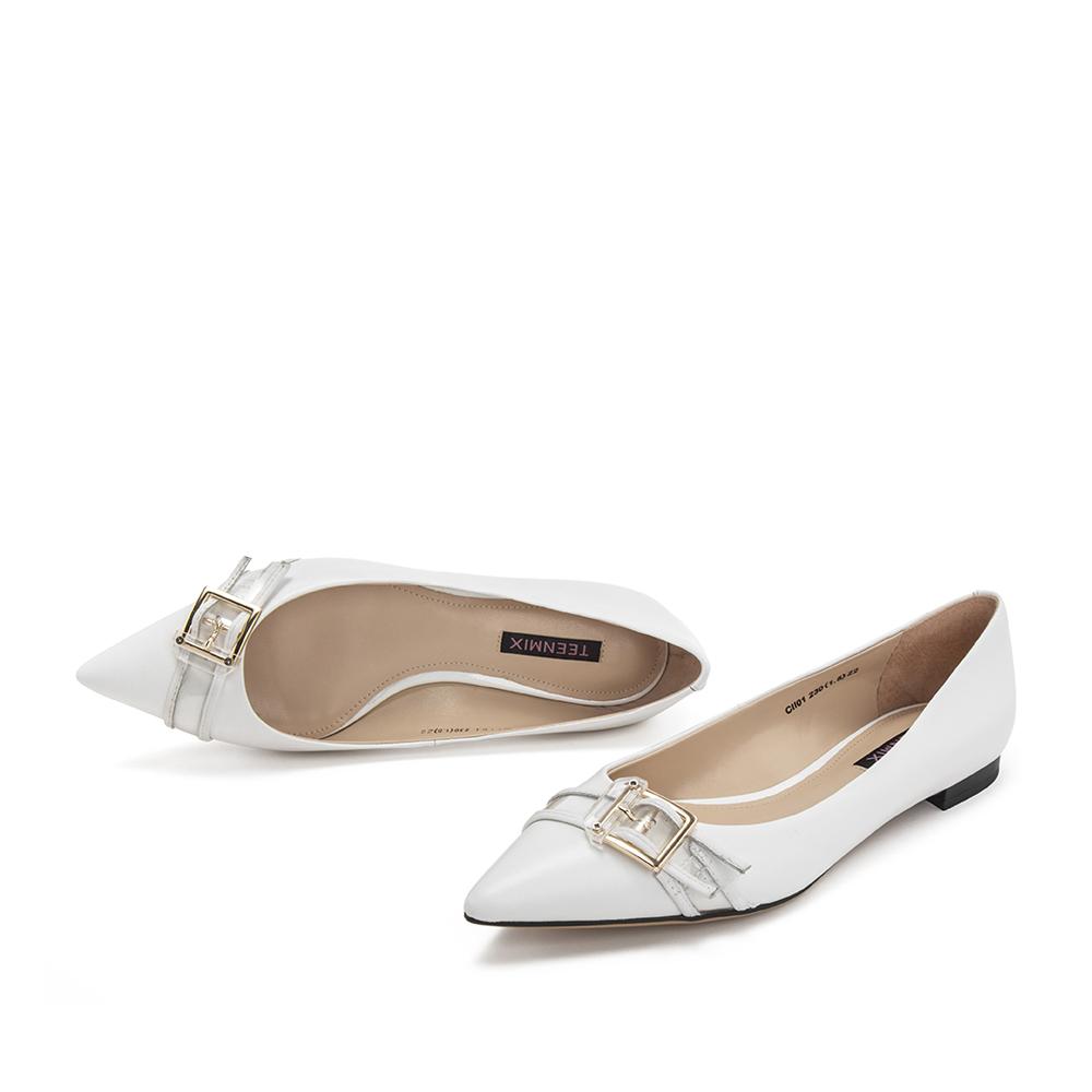 CII01AQ9 春新款 2019 天美意浅口单鞋女尖头优雅休闲鞋 商场同款