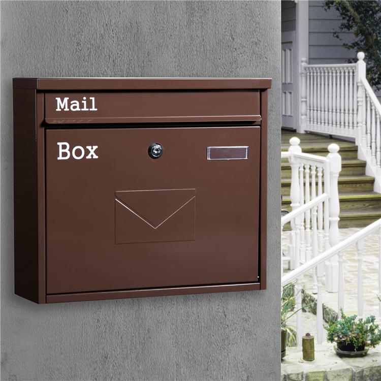 信箱大號歐式別墅郵箱室外掛墻防雨防水快遞信報箱 MAILBOX 固盾