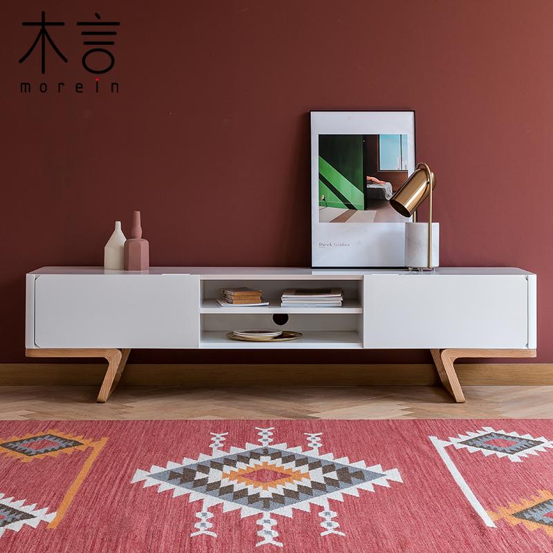 木言設計 原創留白系列現代簡約電視櫃北歐創意地櫃質感亞光矮櫃