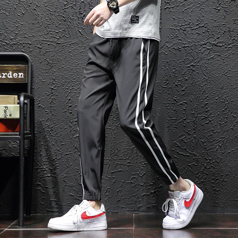 冰丝休闲裤男士男装宽松夏季2019新款薄款速干裤运动裤子长裤男潮