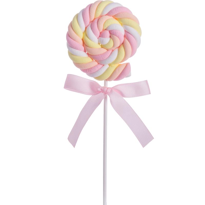 仿真棉花麻花棉花糖棒棒糖假糖利儿童摄影道具甜品布置鲜花装饰