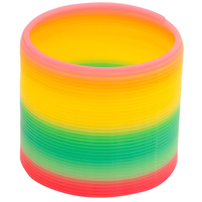 彩虹圈儿童塑料玩具弹簧圈叠叠圈套圈宝宝益智玩具伸缩弹力圈