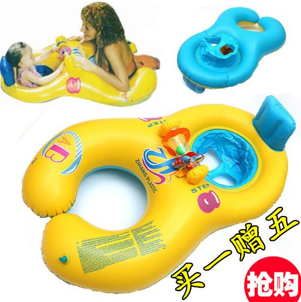 ABC母子圈親子雙人泳圈嬰兒游泳圈寶寶坐圈浮圈救生圈腋下圈0-3歲