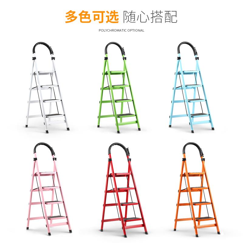 。家用多功能折叠楼梯椅凳子两用室内登高三步小梯子台阶