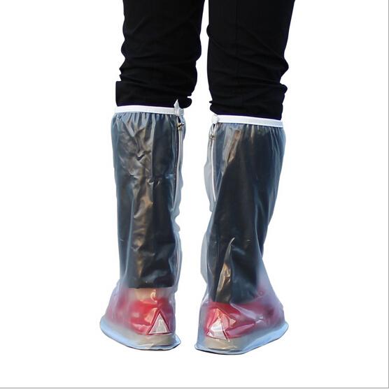 特价 韩国日本时尚男女士高筒雨鞋套 防滑加厚鞋底透明防水鞋套