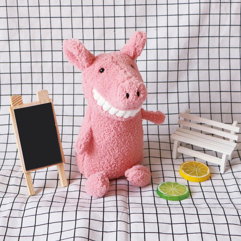 微笑大牙猪布娃娃小公仔超丑萌玩偶毛绒玩具可爱床上睡觉抱枕女生