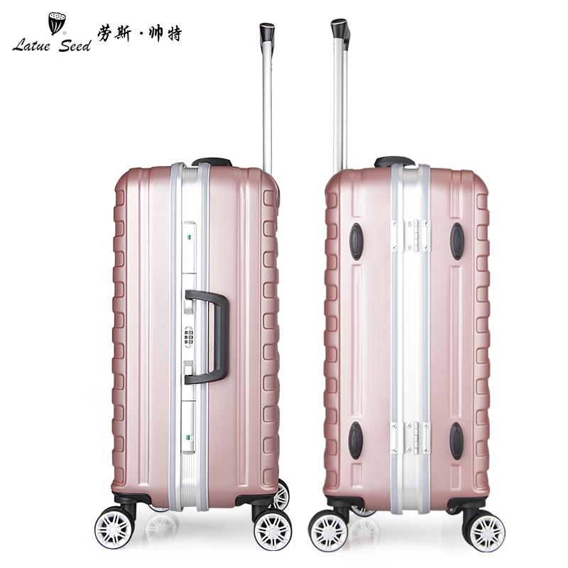 寸女行李箱 20 寸男登机箱学生 24 新款铝框拉杆箱万向轮 2018 劳斯帅特
