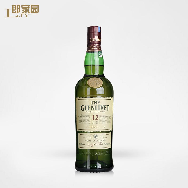 郎家园洋酒glenlivet格兰威特12年陈酿单一麦芽苏格兰威士忌酒