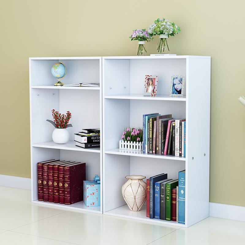 自由组合书架书柜置物架简易学生格子柜桌面桌上落地创意儿童书柜