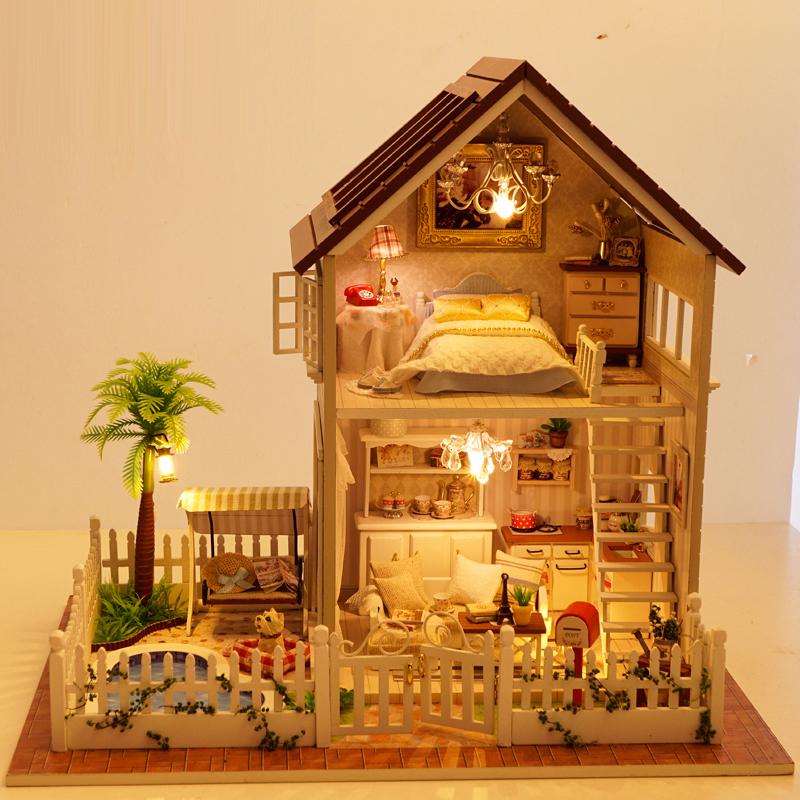 创意拼装木质手工diy音乐盒八音盒别墅送情人男生女朋友生日礼物