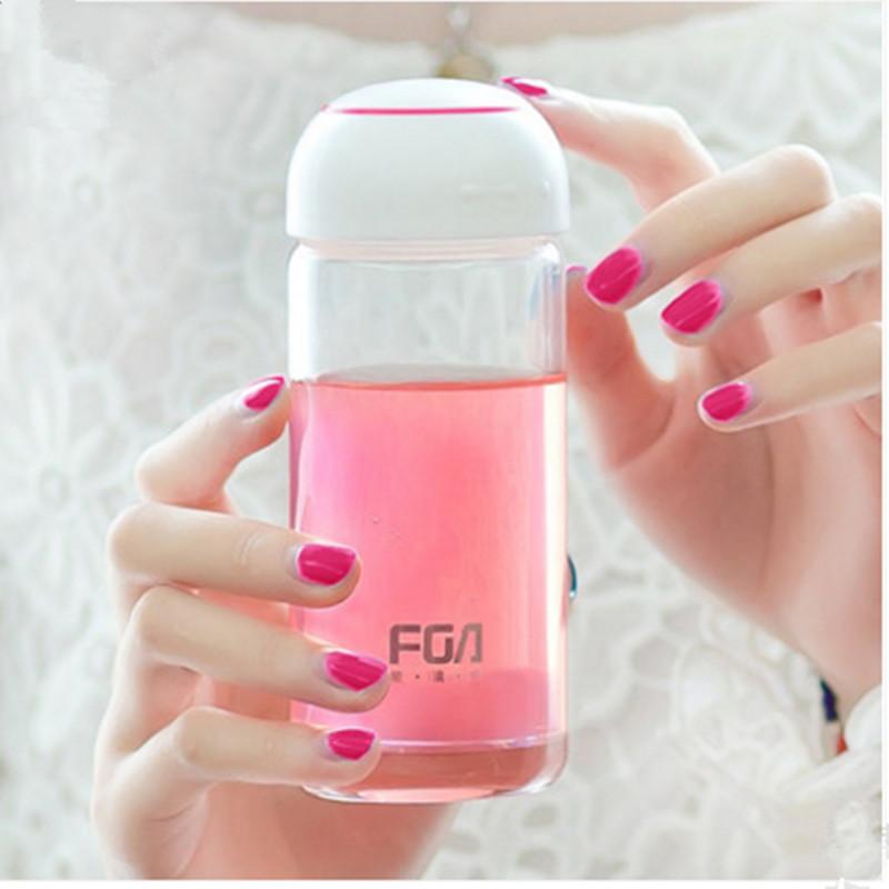 富光單層水晶玻璃杯時尚迷你便攜男女士情侶防漏杯可放包包花茶杯
