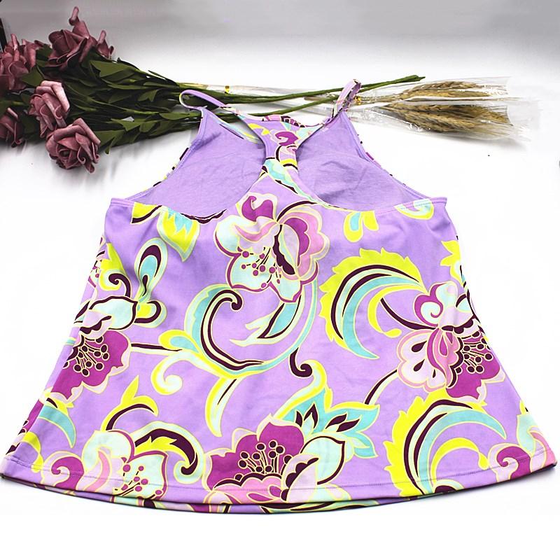 安莉芳吊带背心专柜正品惊爆时尚印花内置罩杯美背夏季ED0049