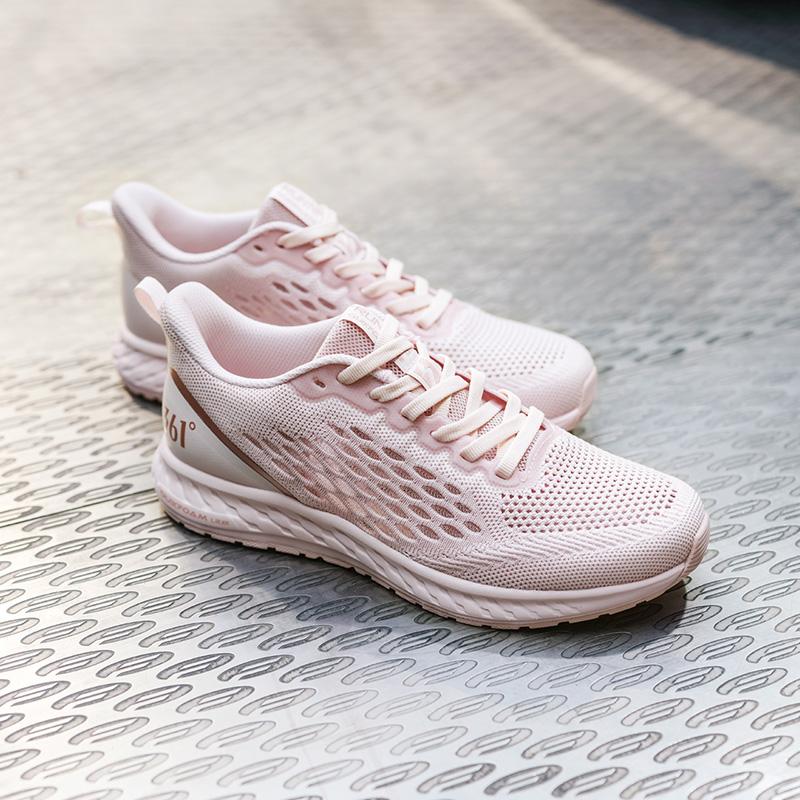 361运动鞋女鞋2021春季网面跑鞋轻便透气鞋子361度减震跑步鞋女