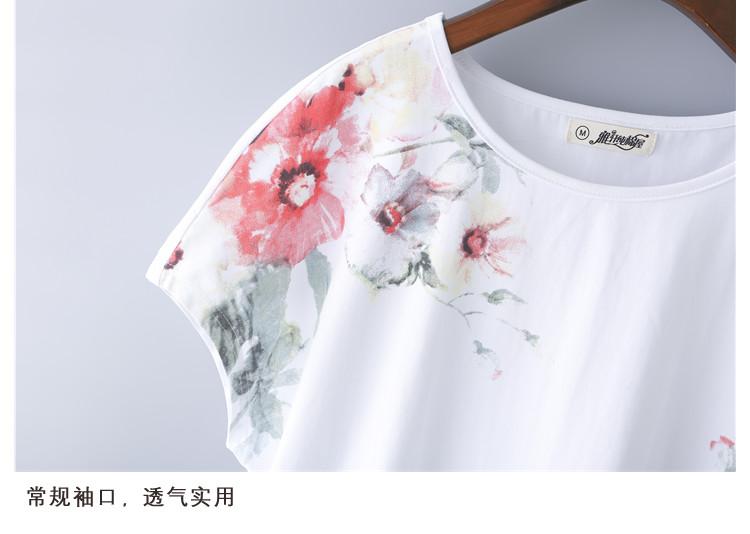 2021新款夏装白色纯棉短袖t恤女宽松中年妈妈半袖上衣洋气小衫主图
