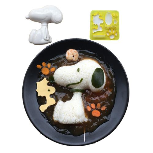 卡通飯糰模具史努比造型 米飯蓋澆飯咖哩飯便當模具 DIY廚房工具