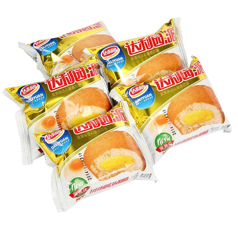 达利园蛋黄派1500g老人零食早餐面包蛋糕点网红美食整箱批发散装