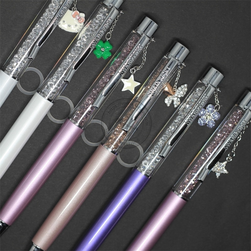 施华洛世奇笔Kitty猫水晶笔正品圆珠笔吊坠礼物特价1097052