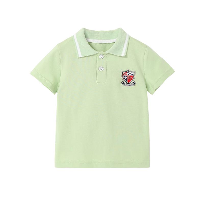 儿童短袖t恤纯棉男童女童2021新款夏季时尚透气中小童洋气polo衫