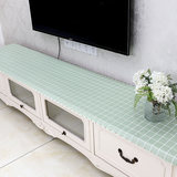 Nordic TV cabinet cover cloth PVC water and oil cloth tablecloths disposable household dust nightstand tablecloth table mat