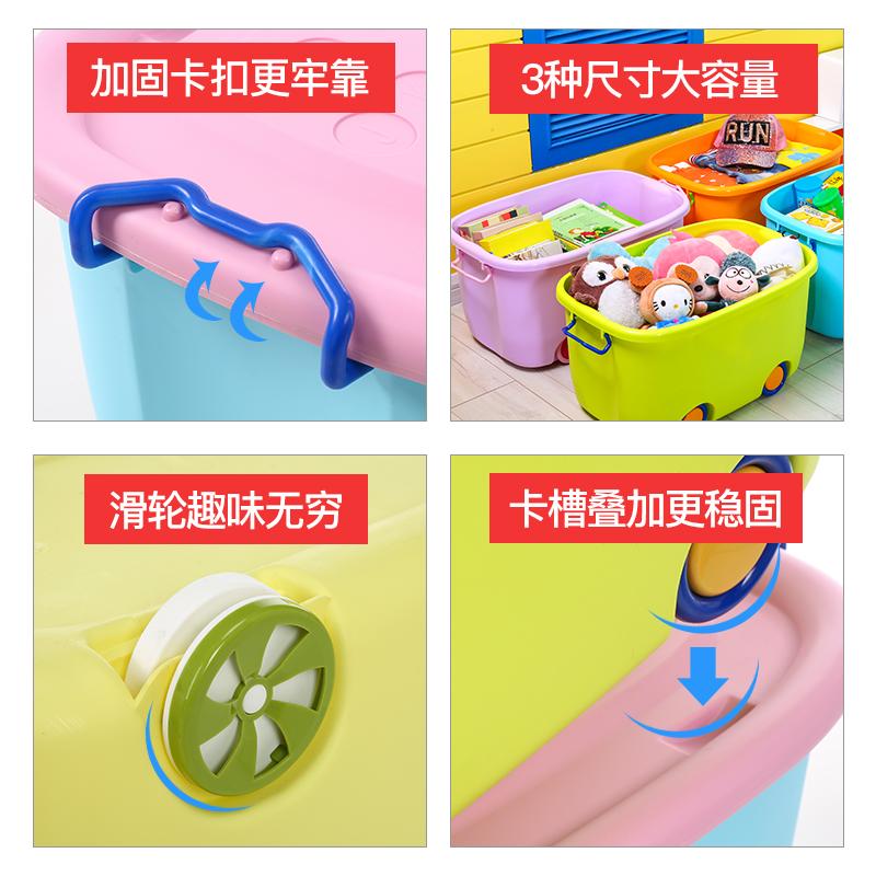 儿童玩具整理箱储物加厚特大号家用塑料收纳箱婴儿收纳盒神器清仓