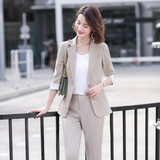 Small suit suit female summer Korean fashion little summer wear thin section drape temperament goddess fancies service