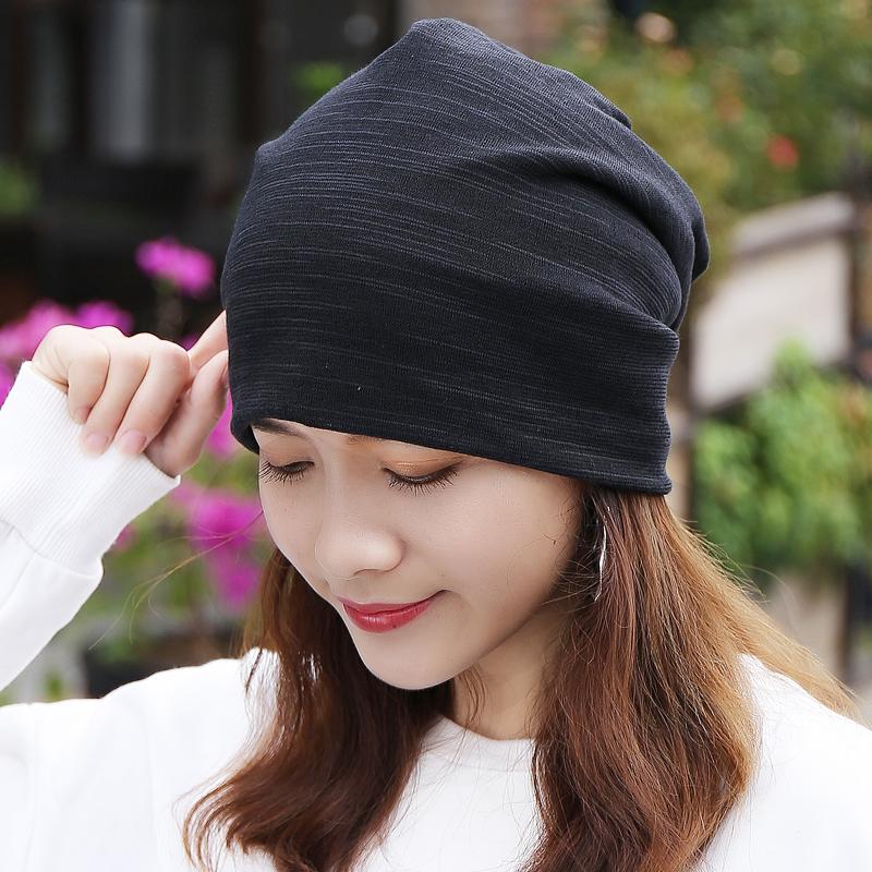 帽子女春秋韩版纯棉包头帽女头巾帽室内堆堆光头帽时尚孕妇月子帽