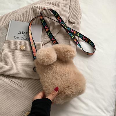 今年流行毛毛包包2021新款包包女包ins小众设计斜挎包毛绒手机包