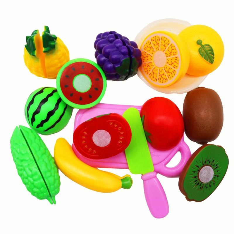 切切乐水果蔬菜玩具儿童宝宝男孩女孩过家家可切的迷你切切看套装