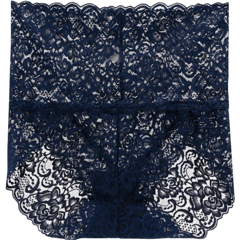 3条装 内裤女蕾丝高腰性感透明大码提臀收腹无痕纯棉裆三角裤