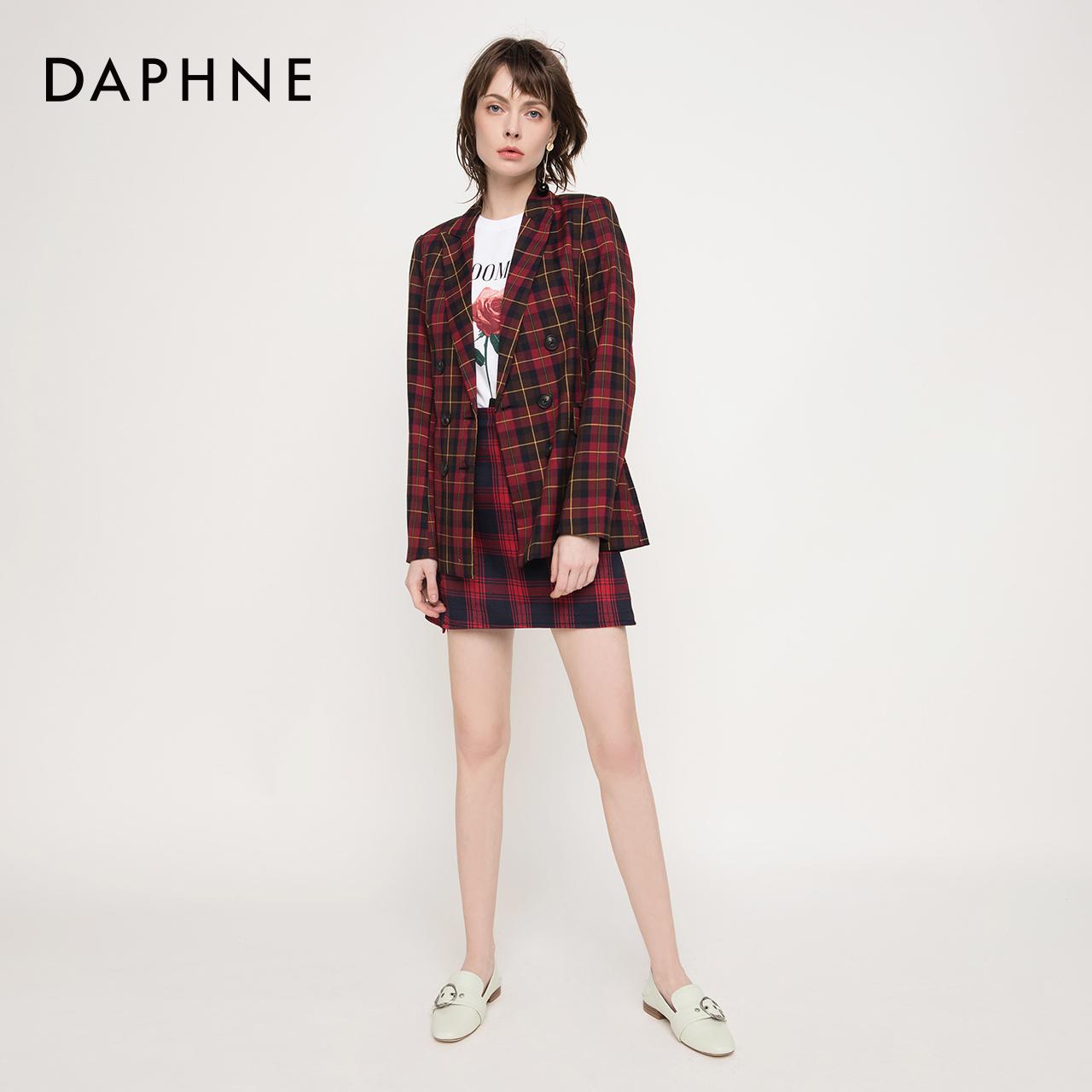 春新款休闲学院率姓饰扣两穿踩脚低跟乐福鞋女 2019 达芙妮 Daphne